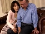 Milf-Giving-Blowjob-For-Her-Husband-Cum-To-Hand-On-The-Couch-In-The-Sitting-Room